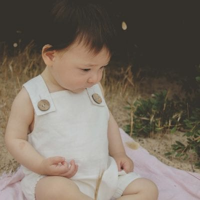 organic cotton baby bodysuit natural