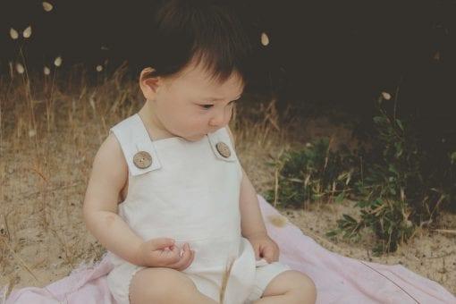 organic cotton baby bodysuit natural